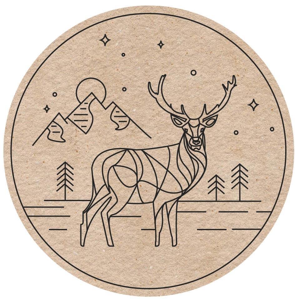 logo oh my deer fond carton