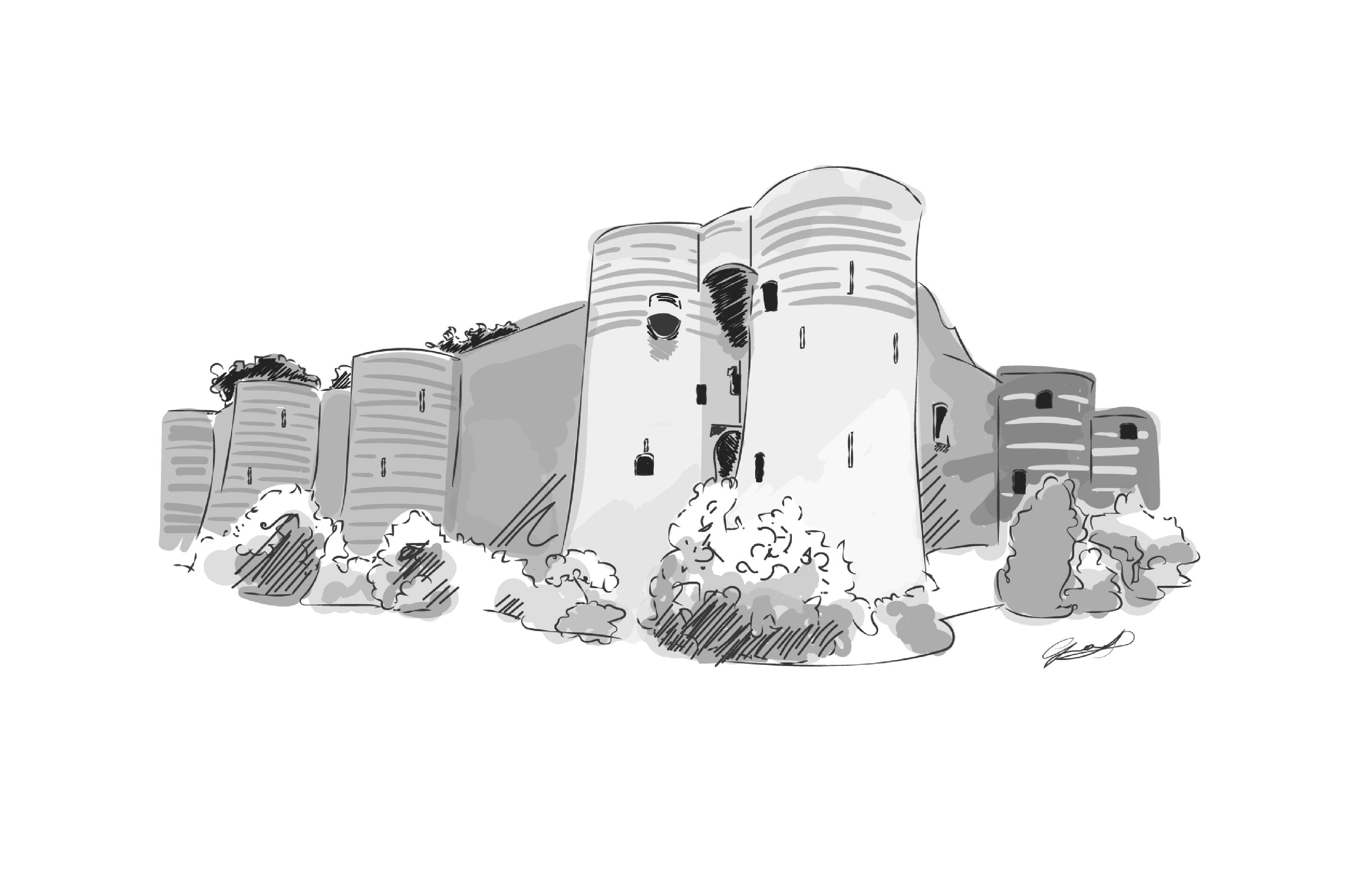 illustration chateau d'angers stephanie girard